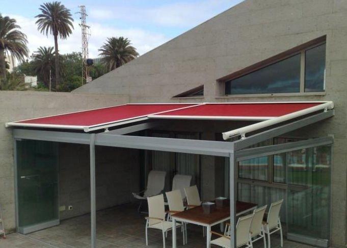 Toldos veranda toldos california toldos y carpas - Estructuras de aluminio para terrazas ...